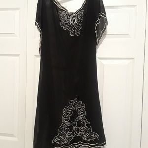 Black dress with Embroidered design